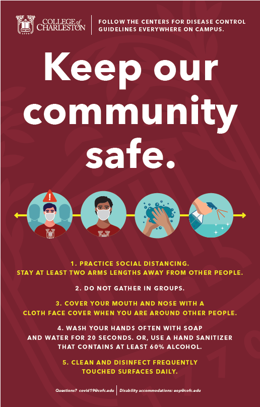 image of signage for keep our community safe