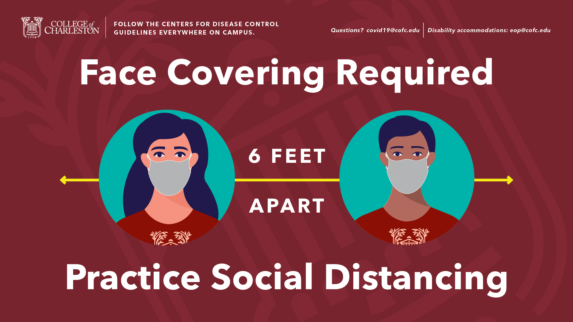 image of signage for Face Cover and Social Distancing