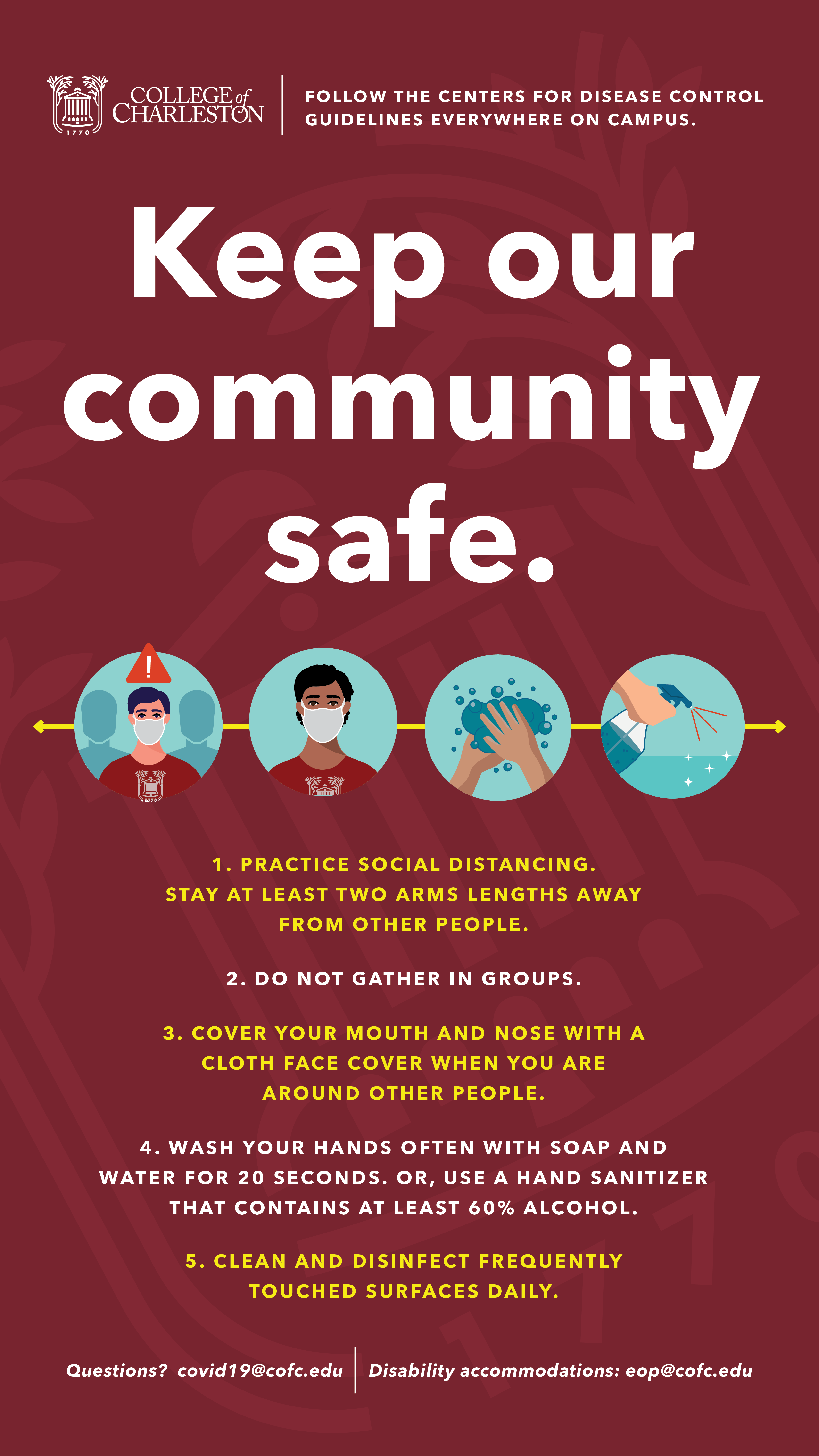 image of signage for Keep Our Community Safe for Kiosk