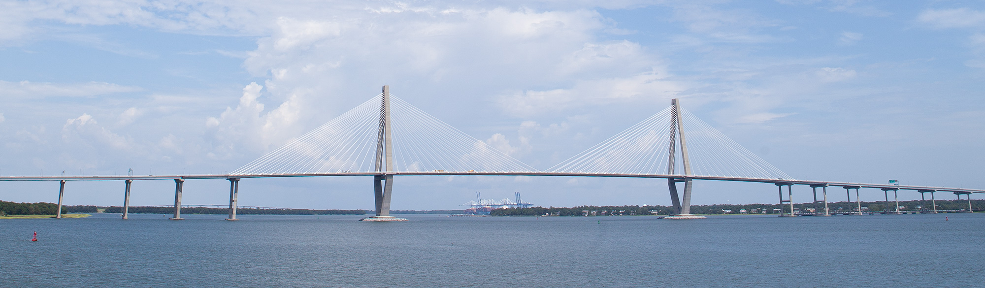 Cycling across the Ravenel Bridge